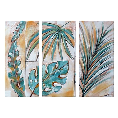 DesignArt Go Ahead, Leave 3 Piece Painting on Canvas Set