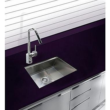 Ukinox 24.5'' x 18.5'' Undermount Single Bowl Stainless Steel Kitchen Sink