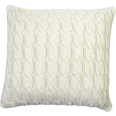 Darzzi Big Cable Pillow Cover; Natural