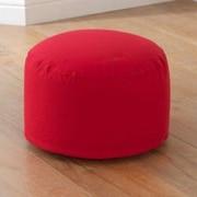 KidKraft Round Pouf Ottoman; Red