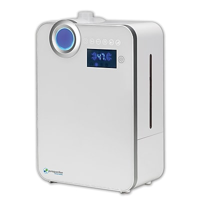 PureGuardian H7550 100 hr. Ultrasonic Warm Mist and Ultrasonic Cool Mist Humidifier with Digital Smart Mist Sensor 16695808