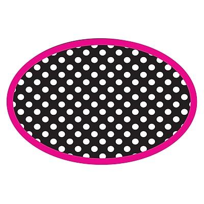 Ashley Magnetic Whiteboard Erasers, Black & White Dots, 1 eraser (ASH10048)