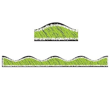Ashley® 12' Scribble Chalk Magnetic Border, Lime, 12/Pack (ASH10208)