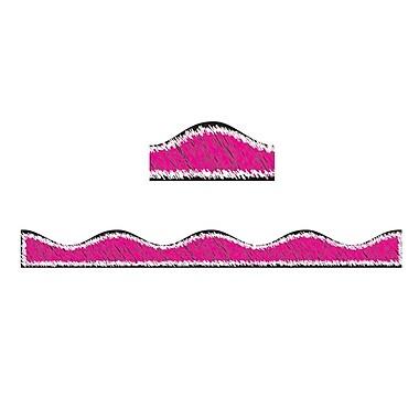 Ashley® 12' Scribble Chalk Magnetic Border, Magenta, 12/Pack (ASH10211)