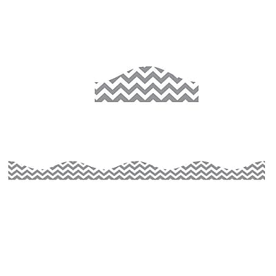 Ashley Productions Big Magnetic Border, Gray Chevron (24 x 2.5)
