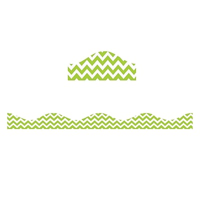 Ashley Productions Big Magnetic Border, Lime Green Chevron (24 x 2.5)