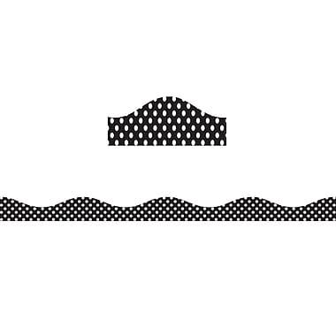 Ashley® 12' Dots Big Magnetic Border, Black & White, 6/Pack (ASH11122)