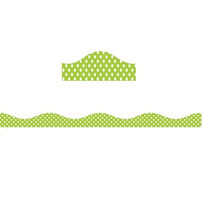 Ashley Productions Magnetic Border, Lime Dots (15 x 2.5)