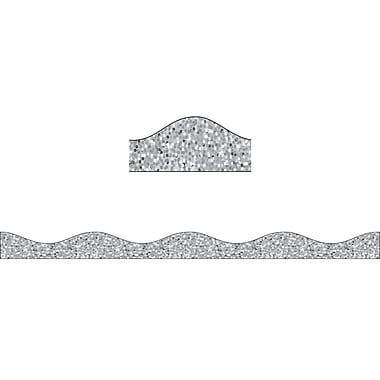Ashley Productions Magnetic Border, Silver Sparkle (15 x 2.5)