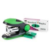 Charles Leonard Soft Grip Mini-Stapler Kit, Standard Staples, Green, 6/Bundle (CHL82225)