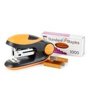 Charles Leonard Soft Grip Mini-Stapler Kit, Standard Staples, Orange, 6 packs (CHL82265)