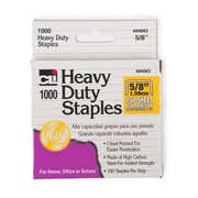Charles Leonard Extra Heavy Duty Staples, 5/8 inch, Silver, 10 packs (CHL84063)