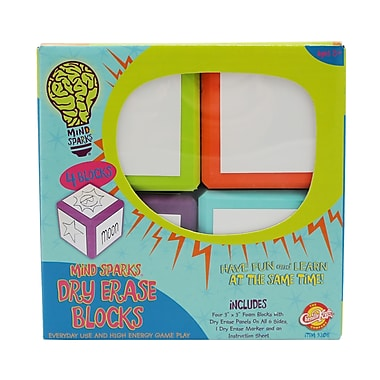 Chenille-Kraft Write On Wipe Off! Blocks, 10/Set (CK-9306)