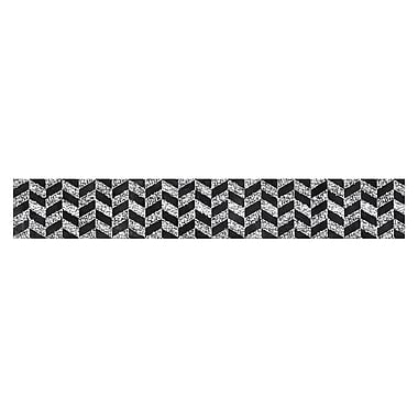 Creative Teaching Press 35' Herringbone in Chalk Borders, 12/Pack (CTP0232)