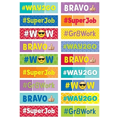 Painted Palette Social Media Reward Stickers, Pack of 90 (CTP2100)