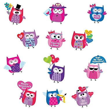 Owl Be Your Valentine Stickers, Pack of 60 (CTP2113)