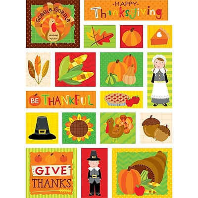 Thanksgiving Fun Stickers, Pack of 90 (CTP4045)