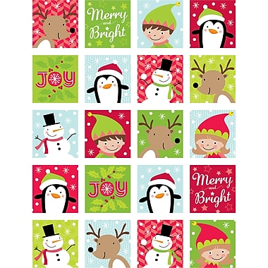 Merry & Bright Stickers, Pack of 100 (CTP4046)