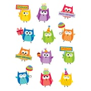 Happy Birthday Owls Stickers, multicolor, Pack of 60 (CTP4406)