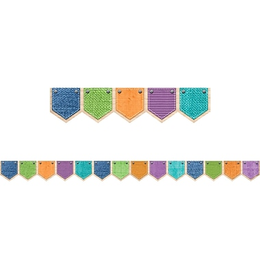 Creative Teaching Press Upcycle Style Patterned Pockets Border (CTP8377)