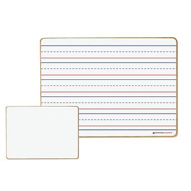 Dowling Magnets – Tableaux magnétiques à effacement sec, lignés/vierges, ensemble de 6 (DO-72500025)