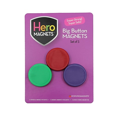 Dowling Magnets Big Button Magnets, 6 sets of 3 (DO-735014)