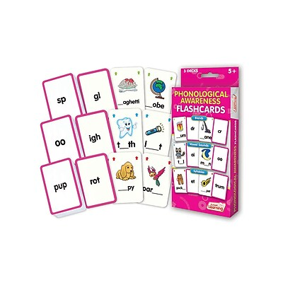Phonological Awareness Flash Cards for ages 5+, 1 pack of 162 (JRL203)