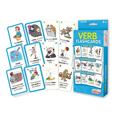 Verb Flash Cards for grades 2-6, 1 pack of 162 cards (JRL209)