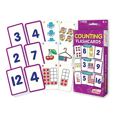 Counting Flash Cards for grades PreK-1, 1 pack of 162 cards (JRL210)