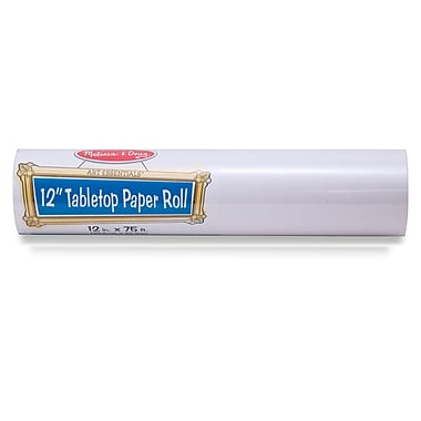 Melissa & Doug 12 inch Tabletop Paper Roll, White (LCI8559)