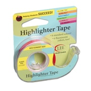 "Removable Highlighter Tape, 3""W x 4""L, Pink, Bundle of 6 (LEE13978)"