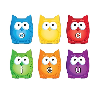 Learning Resources Magnetic Vowel Owls, Assorted Colors, 6 pack (LER5459)