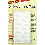 "Miller Studio Magic Mounts® Mounting Tabs, 1/2"" x 1/2"", 12 packs of 64 Tabs (MIL3220)"