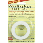 "Miller Studio Remarkably Removable Magic Mounting Tape, 1"" x 48"", White, Bundle of 12 (MIL3238)"