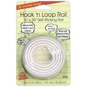 """Miller Studio Hook 'n Loop Mounting Roll, 3/4"""" x 30"""", White, Bundle of 12 (MIL3256W)"""
