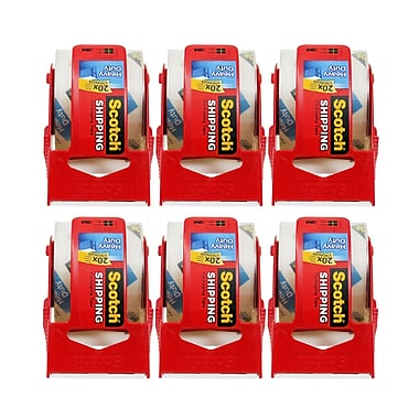 3M Company Scotch® Super Strength Sure Start/Packaging Tape, 22.2 yds, 6/Pack (MMM1426)