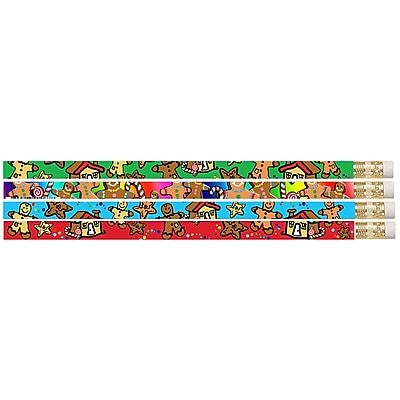 Musgrave Gingerbread Man & Candyland Pencil, No. 2, 12 packs of 12 (MUS1067D)