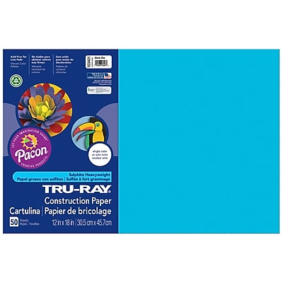 Pacon Corporation Tru-Ray® Fade-Resistant Construction Paper, 12