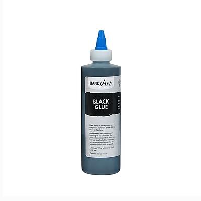 Handy Art® Black Glue, 8 oz., 6 pack (RCP149101)