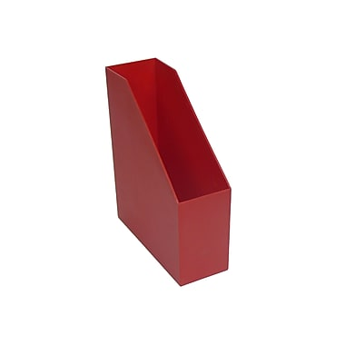 Romanoff Plastic Magazine File, Red, 3/Pack (ROM77702)