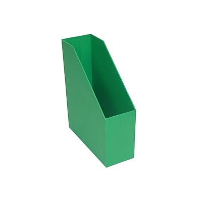 Romanoff Plastic Magazine File, Green, 3 pack (ROM77705)