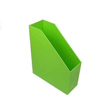Romanoff Plastic Magazine File, Lime Green, 3 pack (ROM77715)