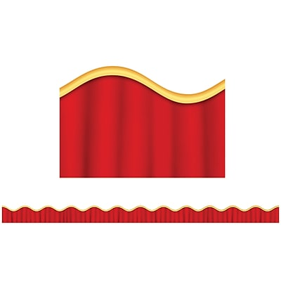 Scholastic Teaching Resources Stage Curtain Scalloped Trimmers (36 x 2.25)