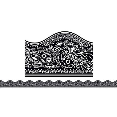 Scholastic Teaching Resources Black Bandana Scalloped Trimmers (36 x 2.25)