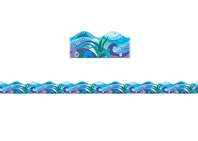 Scholastic Teaching Resources Waves Scalloped Trimmer (36 x 2.25)