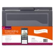 Smead® Cascading Wall Organizer, Gray with Neutral Pockets (SMD92061)