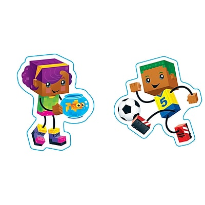 BlockStars! SuperShapes Stickers, Large, Pack of 184 (T-46316)