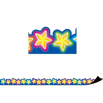 Teacher Created Resources Magnetic Borders, Neon Stars, 24