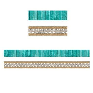 Teacher Created Resources Shabby Chic Double-Sided Border, 12/Pack (TCR77169)