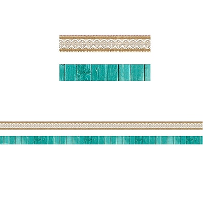 Teacher Created Resources Shabby Chic Ribbon Runner(36 x 1.5)